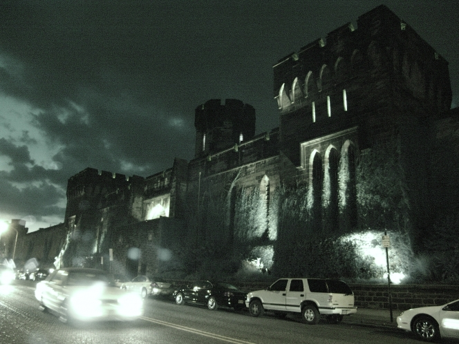 Eastern State Penitentiary at night • Credit: Sean Kelley/Eastern State Penitentiary
